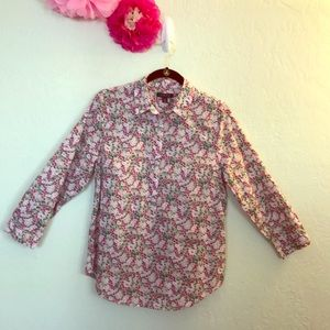 Lands' End Floral Top Size 12